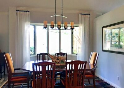 Dining Room – Stationary Drapery Panels