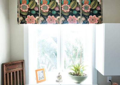 Laundry Room – A Colorful Tailored Valance