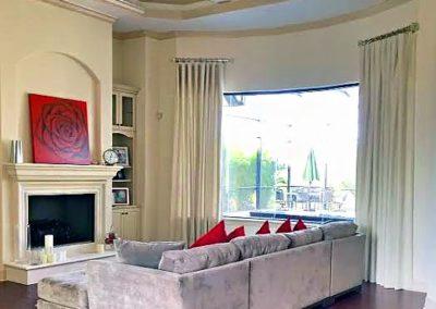 Living Room – Stationary Drapery Panels