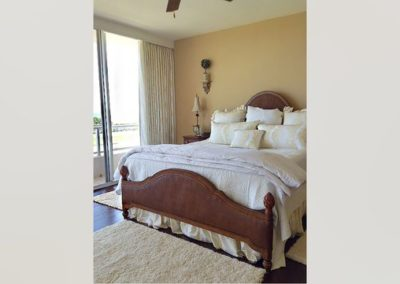 Master Bedroom – Stationary Drapery Panels and Coordinating Accessories