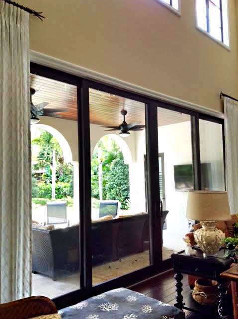Stationary living room panels