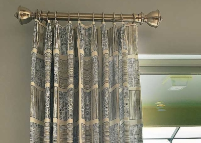 Drapery Hardware and Euro pleat style